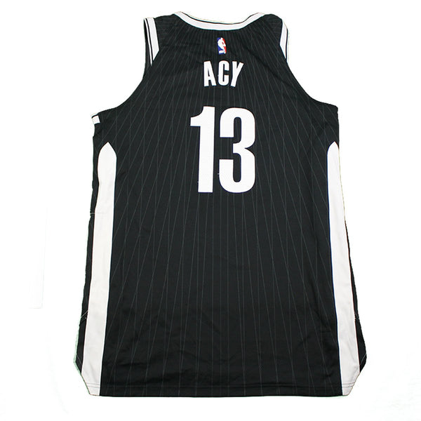bcbbc3eb15ae Quincy Acy Brooklyn Nets Game Used  13 Black Jersey (2 2 2018 vs. Los – Steiner  Sports
