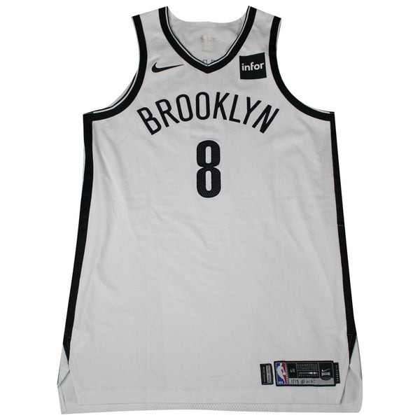 b5247e058 ... swingman association jersey white 0f283 a34b7  aliexpress spencer  dinwiddie brooklyn nets game used 8 white jersey 1 13 wash steiner sports  bfba2