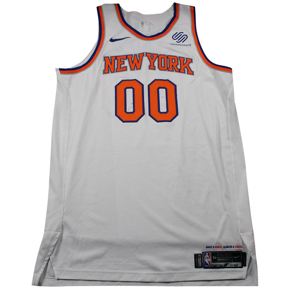 detailing 173c0 be578 Enes Kanter New York Knicks Game Used #00 White Jersey (12/9/17 @ Chicago  Bulls)(NYKE00098)(54)
