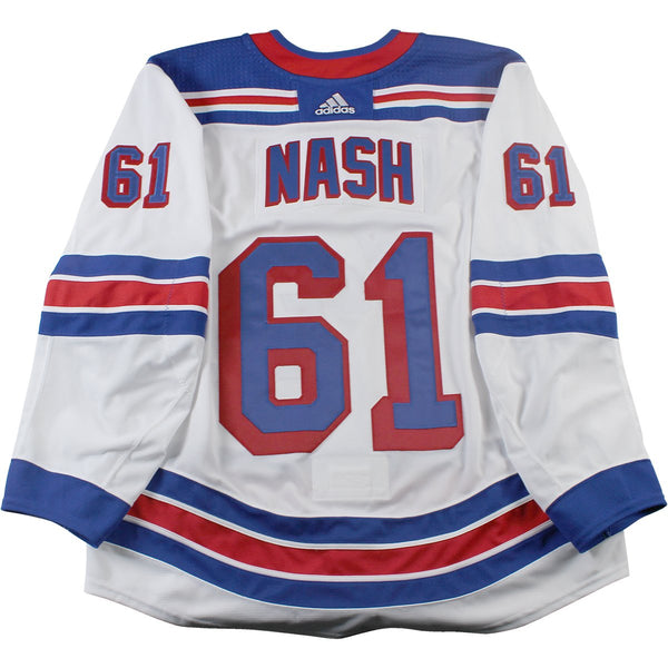 Rick Nash New York Rangers 2017-2018 Pre-Season Game Used  61 White Je –  Steiner Sports dbc8fc62aca