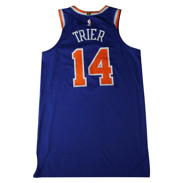 ad454c1d1 Allonzo Trier New York Knicks 2018-19 Game Used  14 Blue Jersey (11 21 –  Steiner Sports