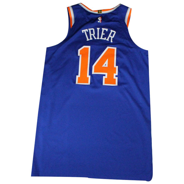 the best attitude bba91 aec0c Allonzo Trier New York Knicks Game Used #14 Blue Jersey (3/15/19 @ San  Antonio Spurs)(NYKE02070)(46)