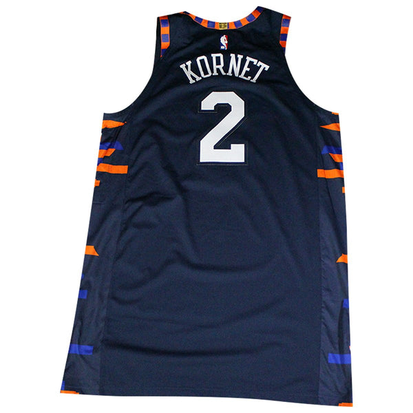 buy popular 41192 db35d Luke Kornet New York Knicks Game Used #2 Navy City Edition Jersey (4/7/19  vs. Washington Wizards)(NYKE01907)(54)