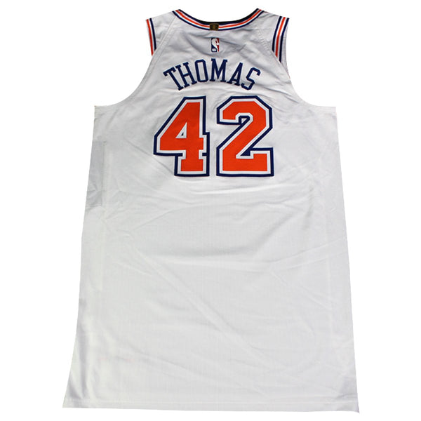 Lance Thomas  42 New York Knicks 2018 Game Used White Statement Jersey – Steiner  Sports e70d6549e