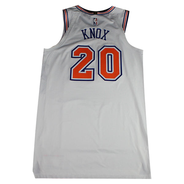 sports shoes ff9ec 1ea12 Kevin Knox New York Knicks 2018-19 Game Used #20 White Statement Jersey  (1/23/19 vs. Houston Rockets)(NYKE02254)(50)