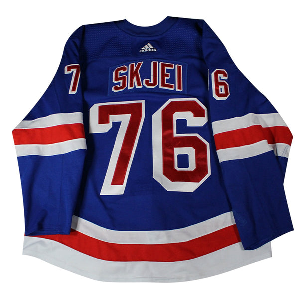 designer fashion c3ddc 0205e Brady Skjei New York Rangers #76 2018-2019 Game Used Blue Set 3 Jersey  (Size 58)