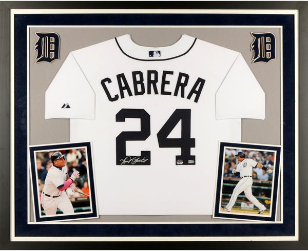 new products 3979d d3f42 Miguel Cabrera Detroit Tigers Deluxe Framed Autographed Majestic Authentic  White Jersey
