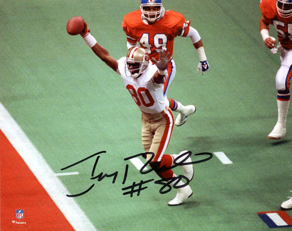 huge selection of d9651 7a87a Jerry Rice San Francisco 49ers Autographed 8