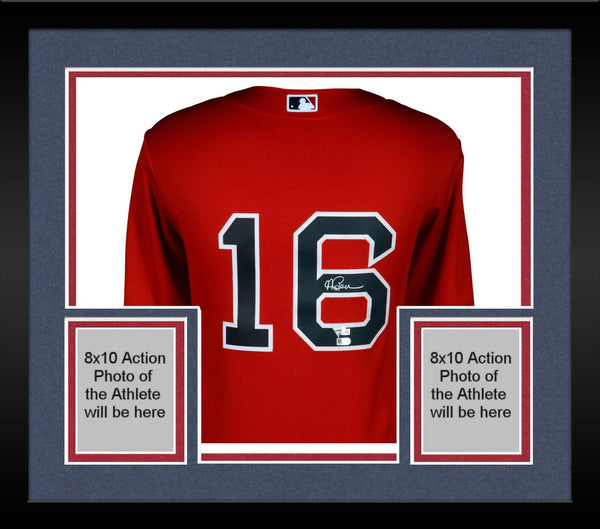 brand new 9fb01 5a5d2 Framed Andrew Benintendi Boston Red Sox Autographed Majestic Red Replica  Jersey