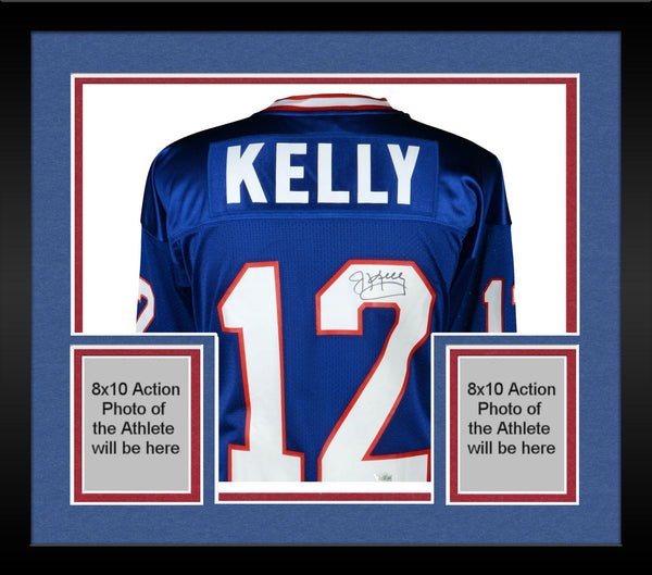 promo code 7517e 06f19 Framed Jim Kelly Buffalo Bills Autographed Blue Mitchell & Ness 1994  Authentic Jersey