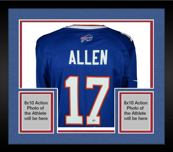 new styles 0f64e 03e9f Framed Josh Allen Buffalo Bills Autographed Blue Nike Game Jersey