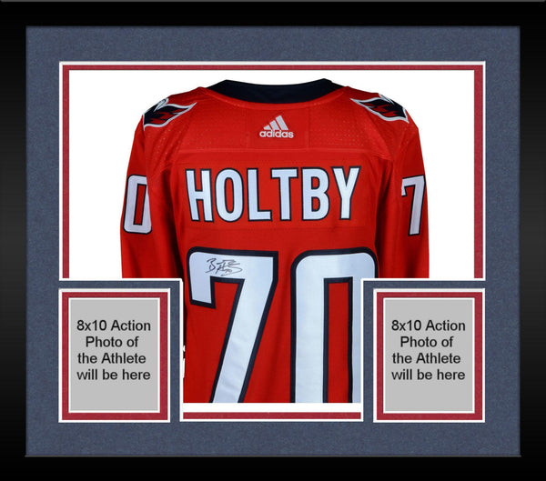 free shipping 9e3ea d1fb5 Framed Braden Holtby Washington Capitals 2018 Stanley Cup Champions  Autographed Red Adidas Authentic Jersey with 2018 Stanley Cup Final Patch
