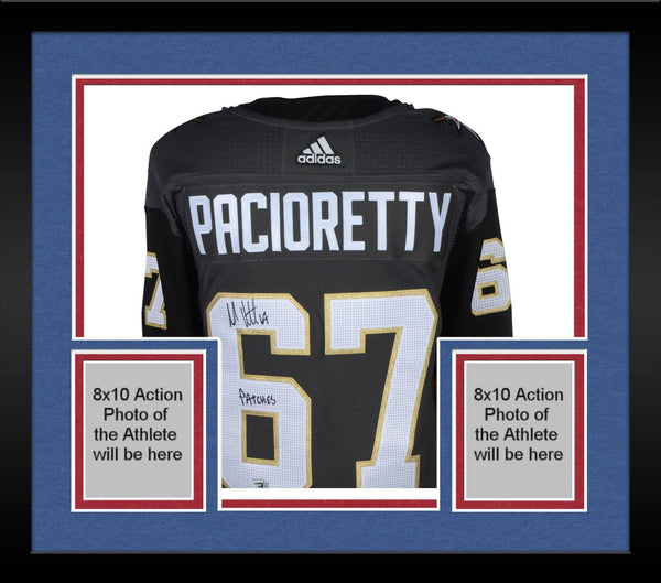 more photos 32950 50e35 Framed Max Pacioretty Vegas Golden Knights Autographed Black Adidas  Authentic Jersey with