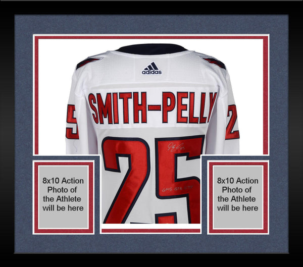 on sale 18a04 8d6c2 Framed Devante Smith-Pelly Washington Capitals 2018 Stanley Cup Champions  Autographed White Adidas Authentic Jersey with 2018 Stanley Cup Final Patch  ...