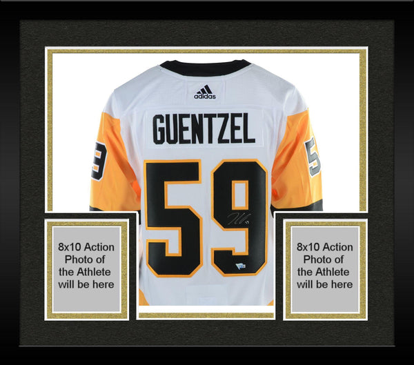 cb41d5892 Framed Jake Guentzel Pittsburgh Penguins Autographed White Adidas Auth –  Steiner Sports