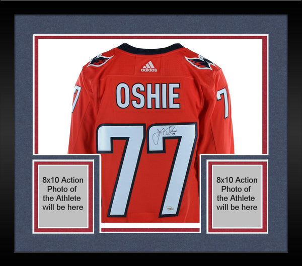 online store e839a b8cc6 Framed T.J. Oshie Washington Capitals 2018 Stanley Cup Champions  Autographed Red Adidas Authentic Jersey with 2018 Stanley Cup Final Patch