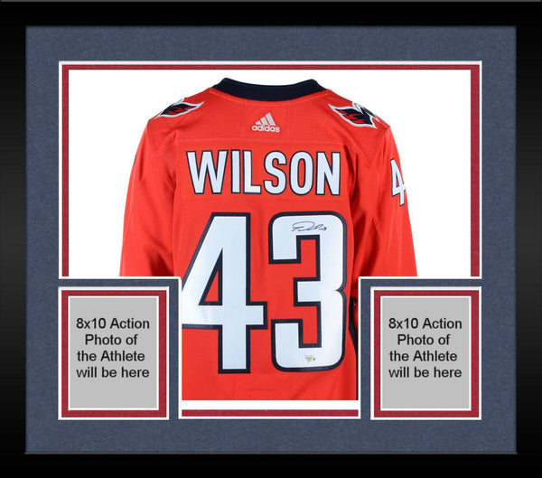 new styles 5cb44 42633 Framed Tom Wilson Washington Capitals 2018 Stanley Cup Champions  Autographed Red Adidas Authentic Jersey with 2018 Stanley Cup Final Patch
