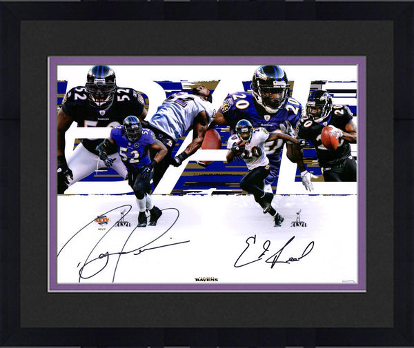 fae9536c Framed Ray Lewis, Ed Reed Baltimore Ravens Dual-Signed 16