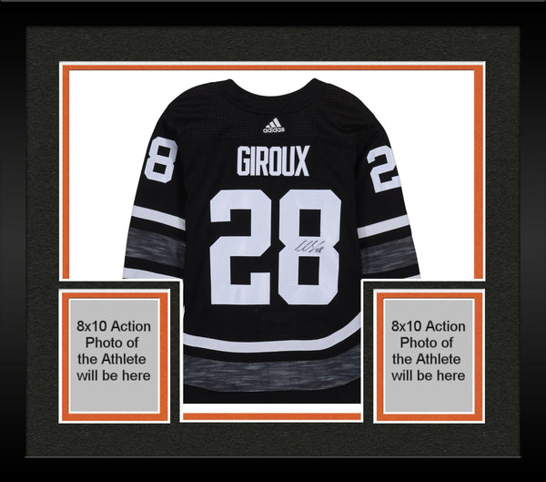 quality design 07ab2 eebed Framed Claude Giroux Philadelphia Flyers Autographed 2019 NHL All-Star Game  Black Parley Adidas Authentic Jersey