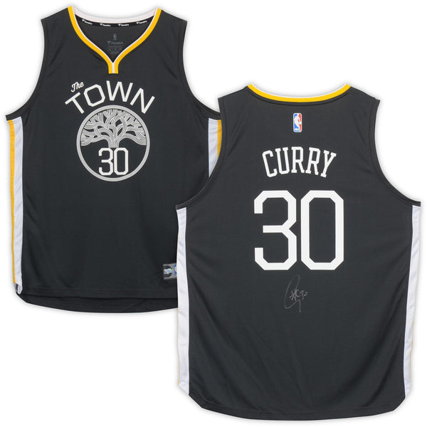 buy popular ce789 7fec0 Stephen Curry Golden State Warriors Autographed Nike Gray Statement Edition  Fast Break Replica Jersey