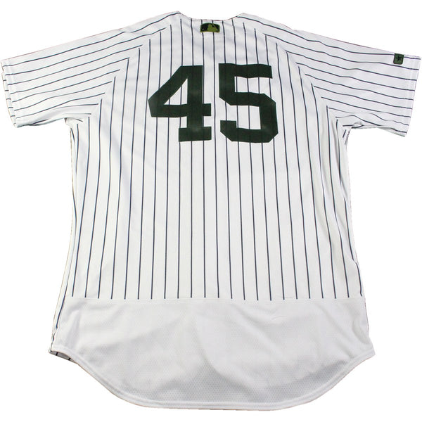 94dfd4470 Chasen Shreve New York Yankees Game Used  45 Memorial Day Weekend Pinstripe  Jersey (5 28 2017)(JC357054)
