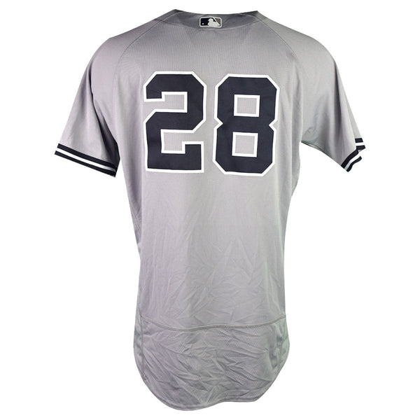 Austin Romine New York Yankees 2018 Road Game Used  28 Jersey (9 30 ... 286751a9198