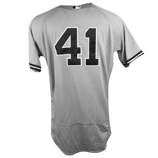 Miguel Andujar New York Yankees 2018 Road Game Used  41 Jersey (9 28 18    9 29 2018) (JB720128) (2 for 5 a4d1e440a8e