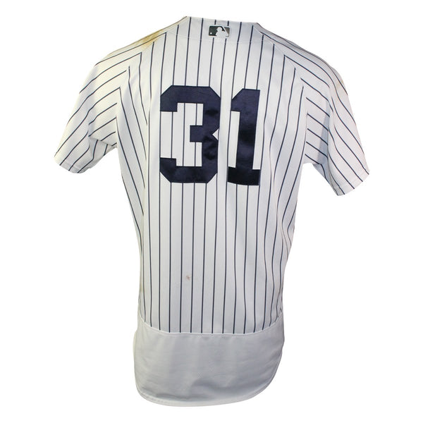Aaron Hicks New York Yankees 2018 Home Game Used  31 Pinstripe Jersey –  Steiner Sports dabb1d3d105