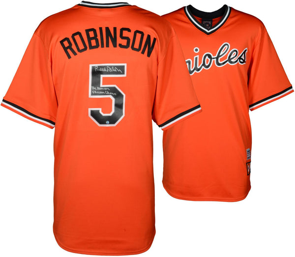 detailing 97100 322cb Brooks Robinson Baltimore Orioles Autographed Orange Throwback Jersey with