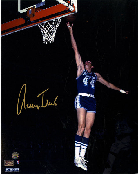 3d485a882 Jerry West Signed Los Angeles Lakers Blue Jersey 8x10 Photo – Steiner Sports