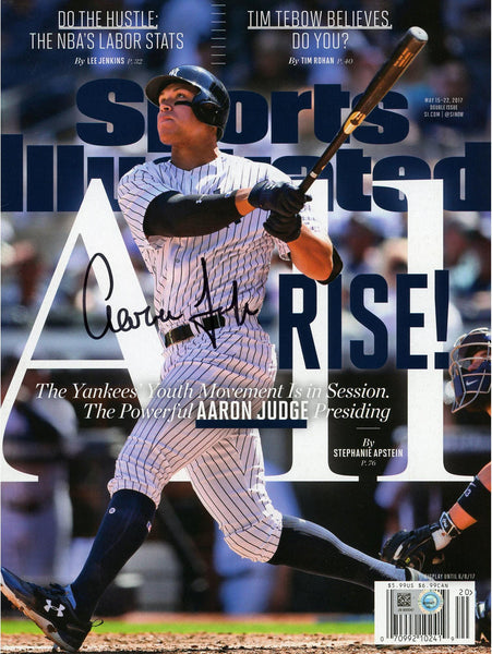 1ce3221ca Aaron Judge New York Yankees Autographed All Rise Sports Illustrated ...