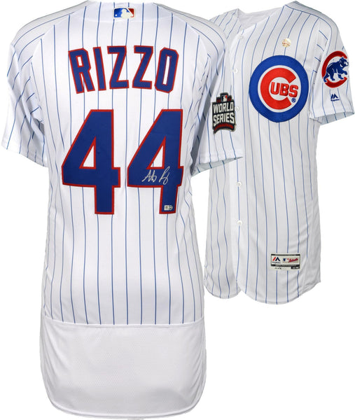 quality design 708b4 5bce5 Anthony Rizzo Chicago Cubs 2016 MLB World Series Champions Autographed  Majestic White Authentic World Series Jersey