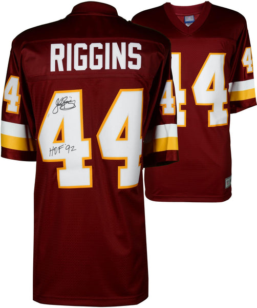 reputable site 9c28d a5611 John Riggins Washington Redskins Autographed Red Mitchell & Ness Replica  Jersey