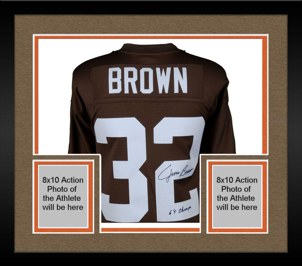 premium selection 2dbaf 9dc2b Framed Jim Brown Cleveland Browns Autographed Mitchell & Ness Replica  Jersey with