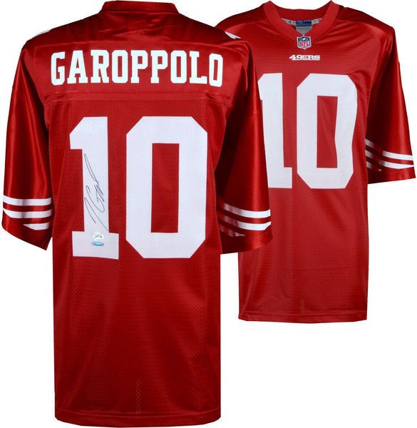 uk availability e292d 074aa Jimmy Garoppolo San Francisco 49ers Autographed Red NFL Pro-Line Jersey