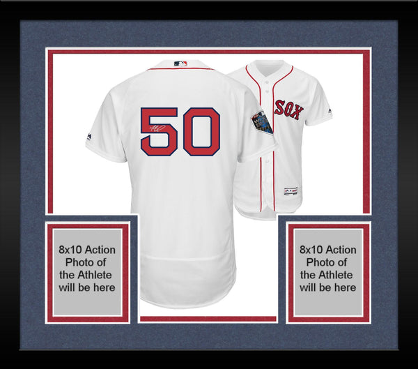 size 40 7d89c 4c4f7 Framed Mookie Betts Boston Red Sox 2018 MLB World Series Champions  Autographed Majestic White Authentic World Series Jersey