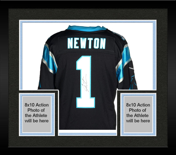new arrival 753d9 5104a Framed Cam Newton Carolina Panthers Autographed Nike Limited Black Jersey