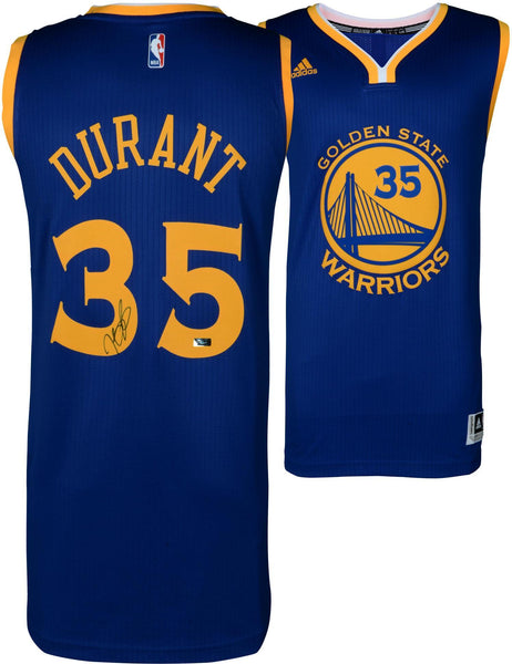 100% authentic 84403 74af3 Kevin Durant Golden State Warriors Autographed Blue Adidas Swingman Jersey  - Panini Authentic