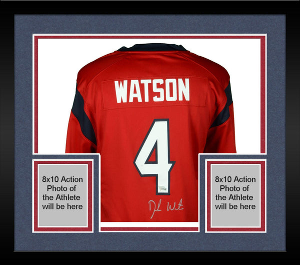 new concept da9bf ccf95 Framed Deshaun Watson Houston Texans Autographed Nike Red Game Jersey