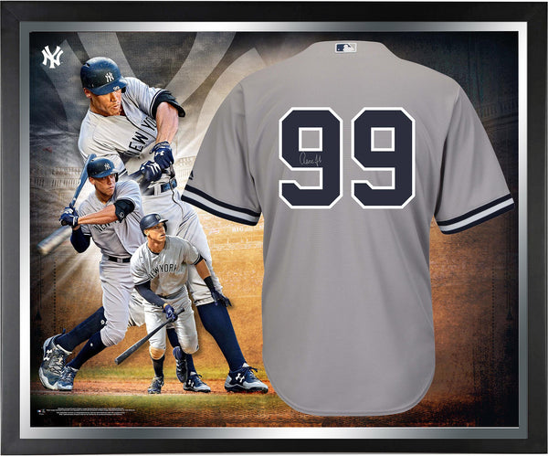 new products c12d6 ecb65 Aaron Judge New York Yankees Framed Autographed Gray Authentic Jersey  Collage