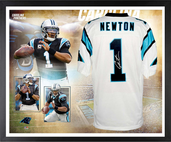 release date: d1767 55d9e Cam Newton Carolina Panthers Framed Autographed White Nike Elite Jersey  Collage