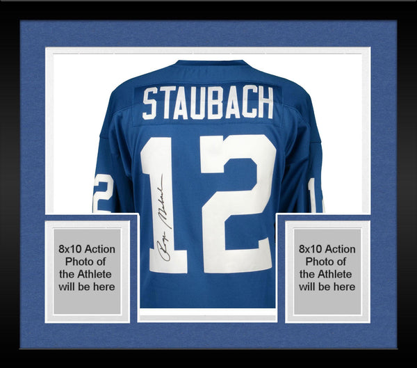 1094d3bbe Framed Roger Staubach Dallas Cowboys Autographed Blue Authentic Mitche –  Steiner Sports