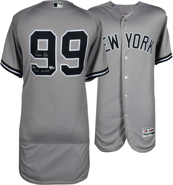 408e4102d Aaron Judge New York Yankees Autographed Majestic Gray Authentic Jersey  with