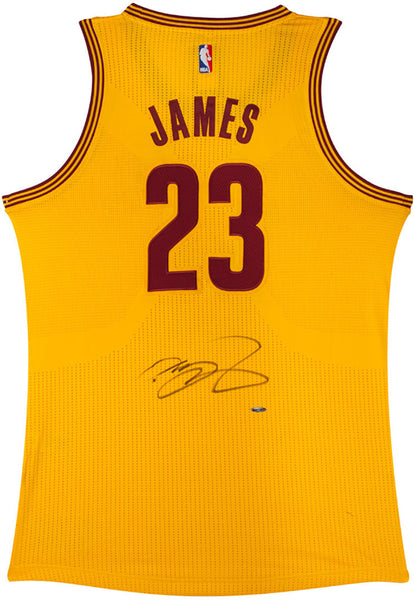 new products e6d46 b6cd5 Lebron James Cavaliers Authentic Alternate Gold Jersey