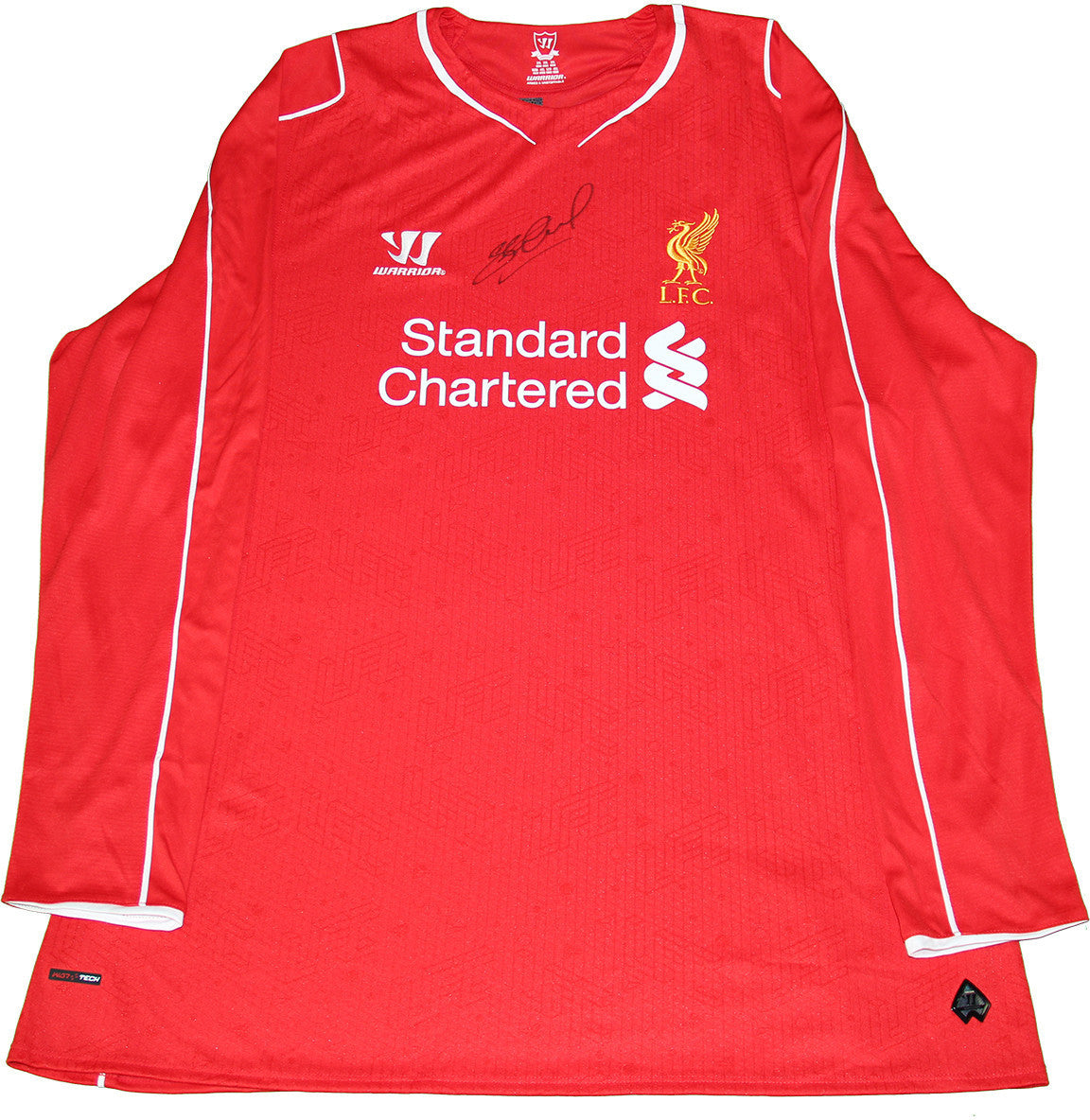 fa88390a5 Steven Gerrard Signed Liverpool Home Jersey 2014-15 (Signed on Front ...