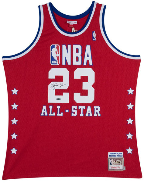 premium selection 09281 4a06e Michael Jordan Autographed Red 1989 NBA All-Star Jersey (UDA Auth)