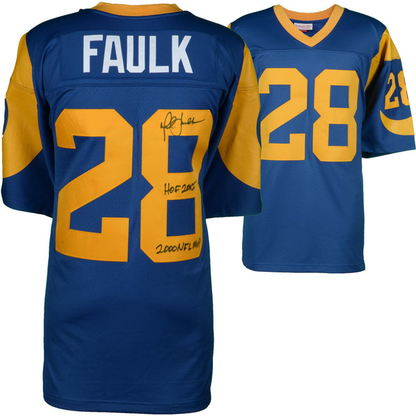 separation shoes 345f9 ffd30 Marshall Faulk St. Louis Rams Autographed Mitchell & Ness Authentic Jersey  with