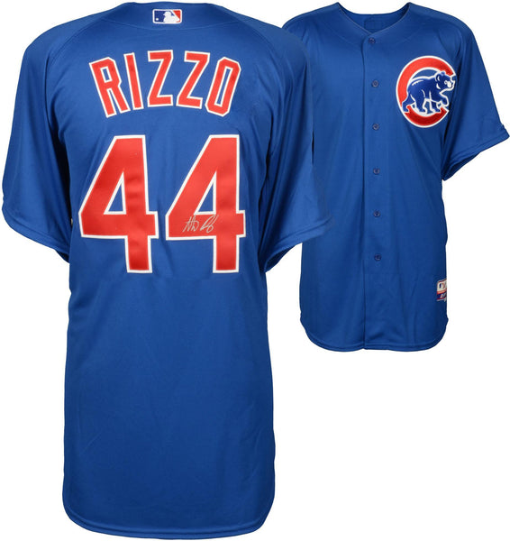 reputable site cbe2e 02a74 Anthony Rizzo Chicago Cubs Autographed Blue Authentic Jersey