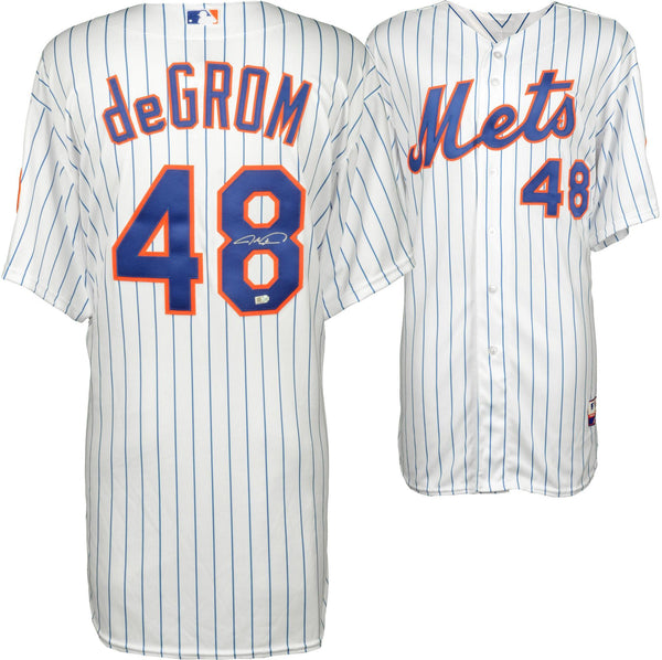 buy online d2cc7 5fc59 Jacob deGrom New York Mets Autographed White Authentic Jersey