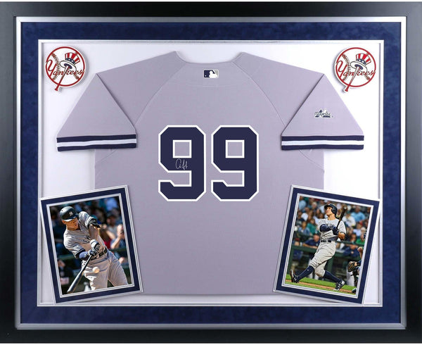 size 40 c1cba 44980 Aaron Judge New York Yankees Deluxe Framed Autographed Gray Authentic Jersey